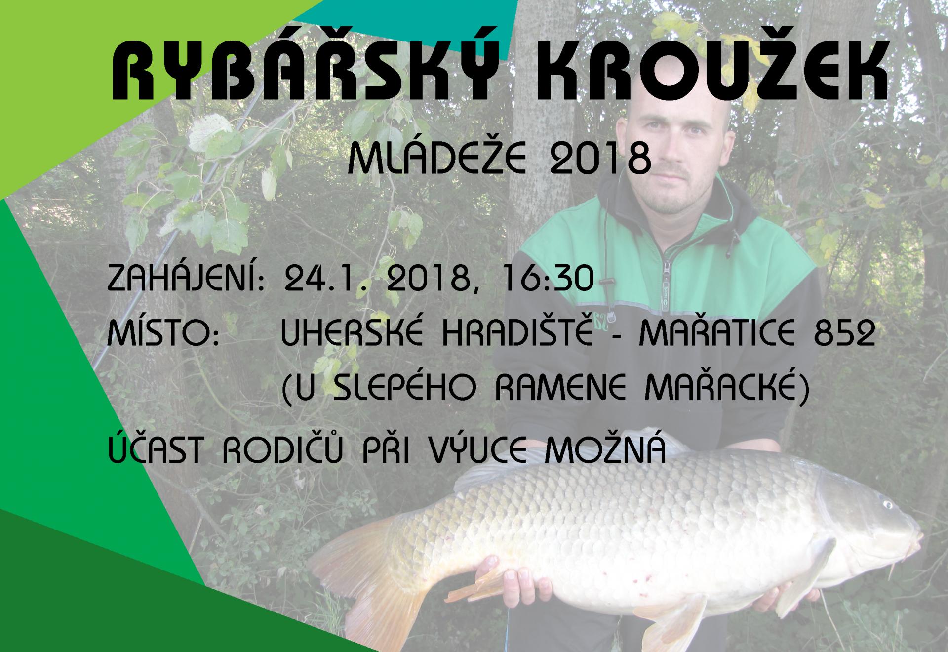 Zahájení Rybářského kroužku mládeže proběhne 24.1.2018