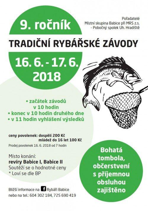 Pozvánka na Rybářské závody v Babicích - 9. ročník
