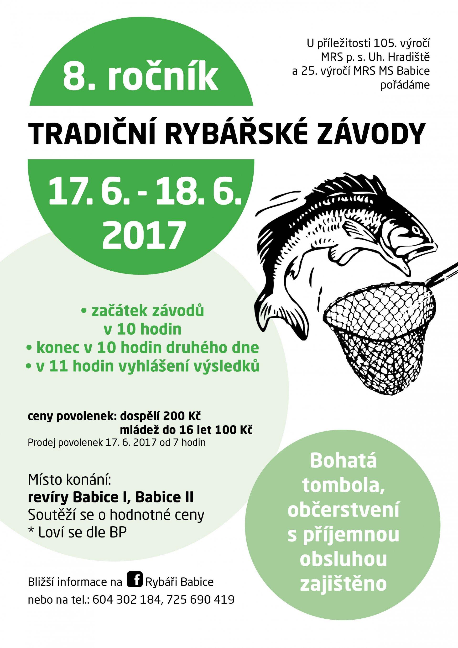 Pozvánka na 8. ročník tradičních Rybářských závodů v Babicích